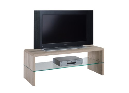 Presto mobilia 11107 Ulan25 Meuble TV Chêne Sonoma Clair 110 x 40 x 40 cm