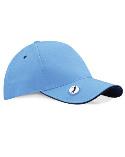Beechfield Ball Mark Golf Cap Farbe = Sky Blau/Französisch Navy Größe = O/S (Ball Cap Navy)