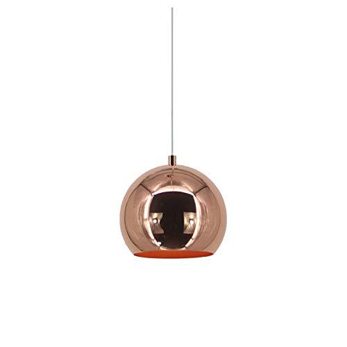 Industrielle Kugel Pendelleuchte Spiegel Ball Lampe Chrom Küche Wohnzimmer Deckenleuchte Licht (Cooper, 20cm)
