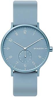 Skagen Aaren Men's Blue Dial Silicone Analog Watch - SKW
