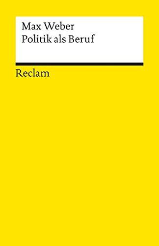 Universal-Bibliothek Nr. 8833: Politik als Beruf