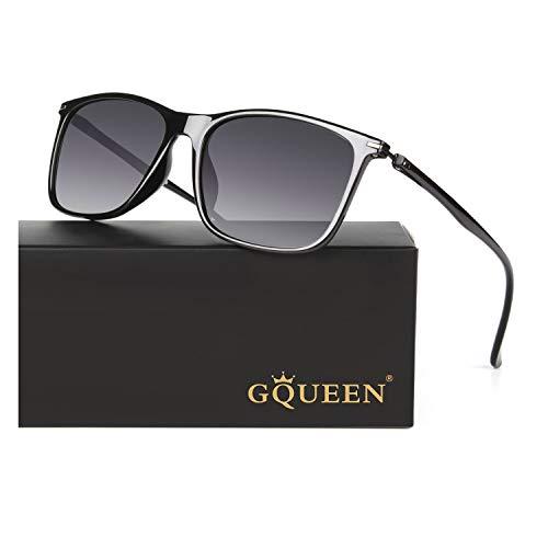 GQUEEN Klassische Ultraleichte Polarisierte Sonnenbrille für Herren Damen MF4