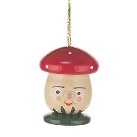 Baumbehang Pilz, Fliegenpilz rot von DREGENO SEIFFEN – Original erzgebirgische Handarbeit, stimmungsvolle Weihnachts-Dekoration