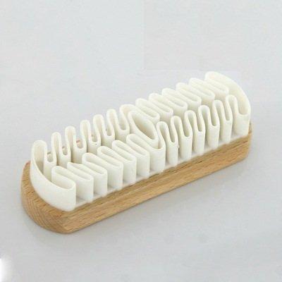 EQLEF® Spazzola in camoscio, spazzola in pelle scamosciata per la pulizia Decontaminazione di scarpe/stivali / accessori in pelle scamosciata