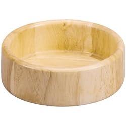 Zeller 24019 - Cuenco (madera de caucho, 15 x 5 cm)