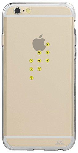Retro star diamanti swarovski elements cover per apple iphone 6 giallo