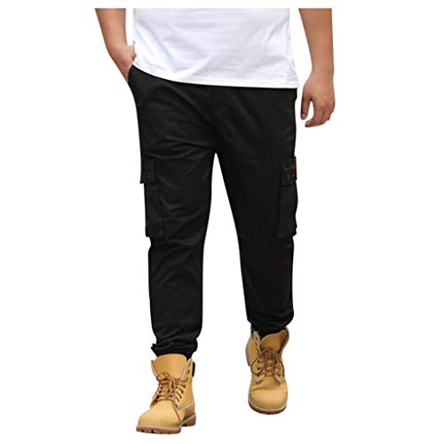 Dwevkeful Herren Trousers Pants Hosen Freizeithose Jogginghose MäNner Sommer BeiläUfige Lange Skate Board Stright Fashion Pocket Plus GrößE S-7Xl -