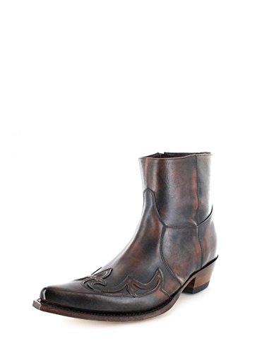 Sendra Boots 7783 Dunkelbraun Classic Westernstiefelette Cowboystiefelette