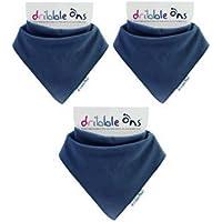 dribblare-Ons Bavaglini Di Bandana - Blu Navy - CONFEZIONE DA 3 (Gift Wrap Disponibile)