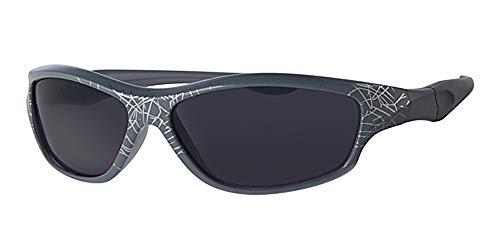Kinder/Kinder und grau Rahmen Sonnenbrille, mit gratis gelb um neckcord, Spiderman Muster, voller UV-Schutz