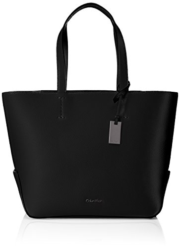 Calvin Klein Damen Edit Medium Shopper Tote, 16 x 28 x 28 cm, Schwarz (Black/001) (Handtasche Medium Shopper)