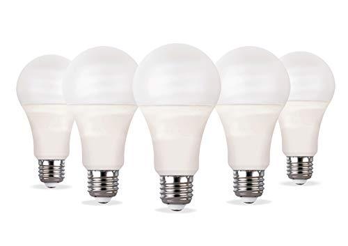 LED Lampe Tropfen–Set 05Stück–12W/E27–Hohe Lichtausbeute 12W-3000K