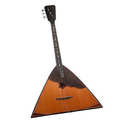 FLAMEER 1 Stück Fortgeschrittenes Holz 3 Saite Balalaika Russisches Volksinstrument - Gitarren-Ukulele