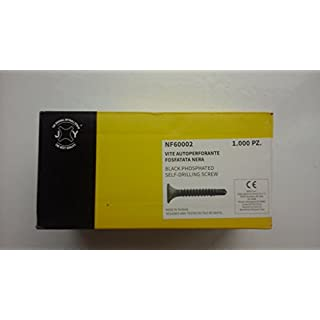 Schraube selbstschneidend phosphatiert schwarz 3,5x 35mm. (1000Stück.)