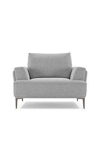 Meubletmoi Fauteuil Tissu Gris Clair modulable - dossiers Mobiles - Design Contemporain - Qualité Confort Best Premium - Alix