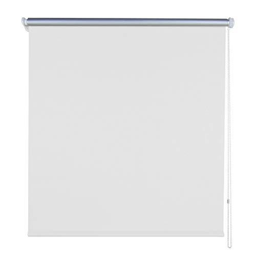 Froadp tenda a rullo avvolgibile oscurante per finestra rullo oscuranti termica montabile senza viti per windows porte pareti e soffitti (110 x 160 cm, bianca)