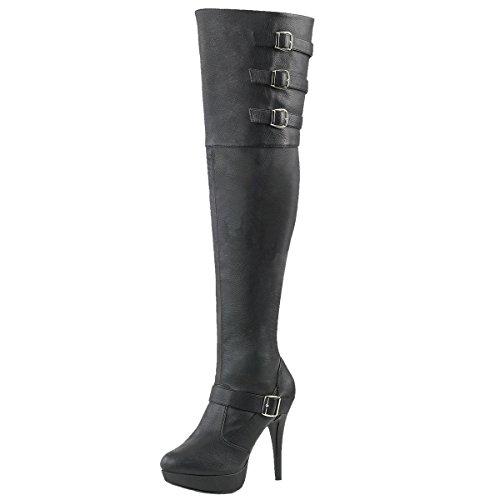 Heels-Perfect, Stivali donna nero (nero)
