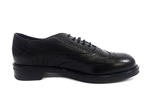 Frau 98m5 Chaussures Noires Femme Chaussures Françaises Avec Cuir Noir