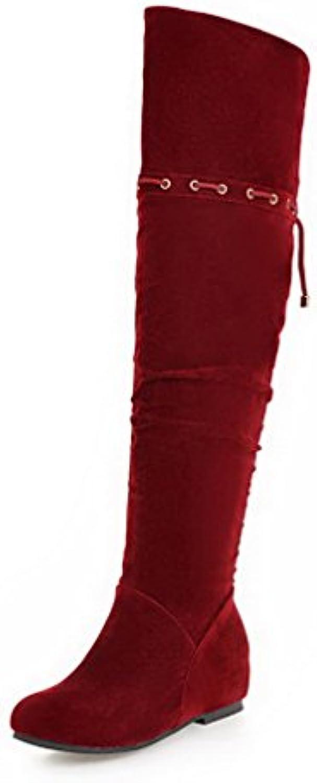 VogueZone009 Femme Zip Rond à Talon Bas Haut BottesB01N3OPTGGParent Élevé BottesB01N3OPTGGParent Haut c678a1