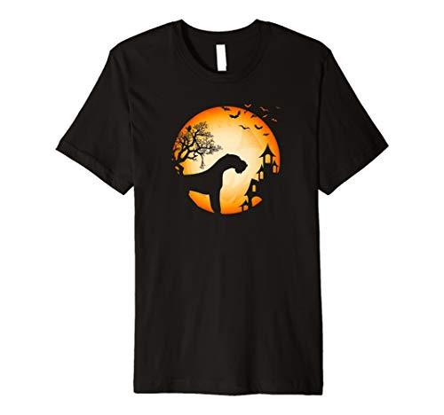 Drahthaar-Foxterrier Halloween T-Shirt Hunde-Silhouette Mond