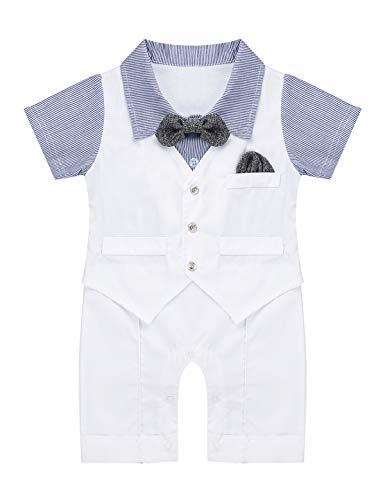 Anzug Strampler Für Kleinkinder - Tiaobug Neugeborenes Baby Junge Strampler Smoking