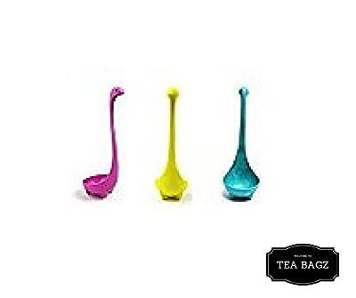 TEA-BAGZ/ Lot de 2 Infuseurs de Thé en forme de Monster Loch Ness/ Couleur Rouge / Idéal pour une infusion Bio/Tisane/Thé vert,/ Thé noir/ Accessoires Home et Cuisine/ Diffuseur à Thé Original/ Diffuseur à Thé de Haute Qualité / Diffuseur de thé 100% sili