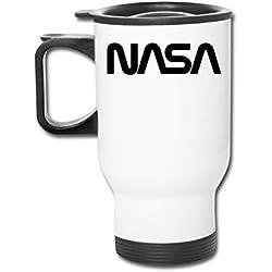 NASA Astronauta Space Shuttle Rocket Science Geek 16 oz Vaso de acero inoxidable de doble pared con tapa a prueba de salpicaduras para bebidas calientes y frías
