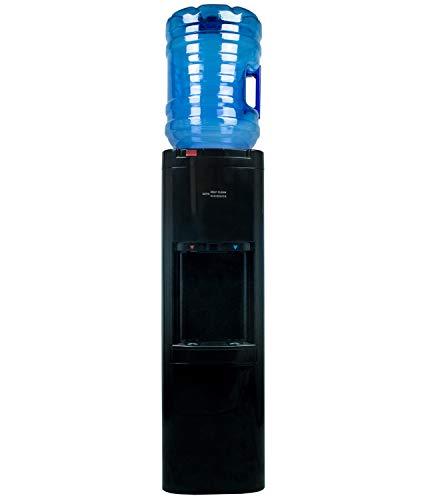 Dispensador de Agua de botellón. Color Negro. Agua fría y Caliente, con Sistema Auto-higienizante de Ozono