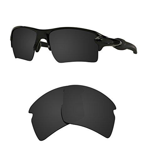 Littlebird4 Polarisierte Ersatzgläser für Oakley Flak 2.0 XL Sonnenbrillen, 1,5 mm, Verschiedene Optionen, Herren, Dark Black
