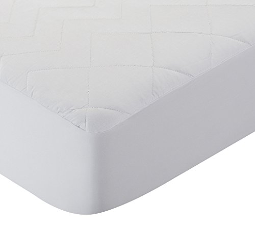 Pikolin Home - Protector de colchón acolchado cubre colchón de fibra antiácaros, transpirable, 160 x 190/200 cm, cama 160 (Todas las medidas)