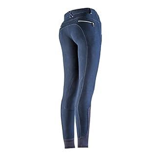EQUI-THÈME Culotte Equitation Pantalon Zipper - Marine - 40 Femme