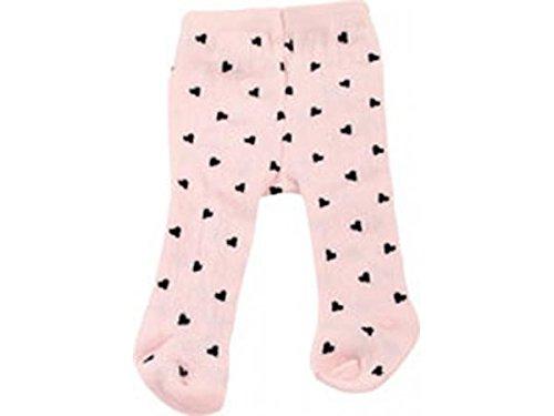 fhose für Babypuppen, Design spotty pink, Puppenkleidung passend für Puppengrößen 30 - 33 cm ()