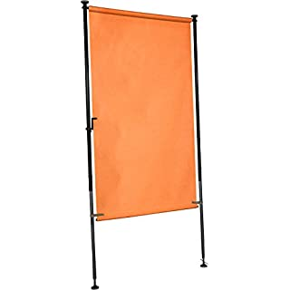Angerer Balkon Sichtschutz uni orange PE, 120 cm breit, 2318/1005