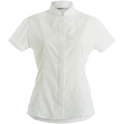 Collare del mandarino Equipaggiata Maniche corte shirt da donna, Kit Kustom