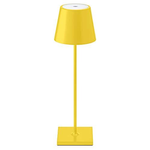 SIGOR LED-Akku-Tischleuchte für Garten und Terrasse 180 Lumen, 9 Stunden Laufzeit ohne Kabel Nuindie gelb