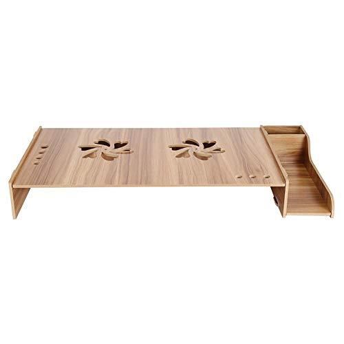 r, Laptopständer aus Holz, Monitorständer Desktop Organizer für Mäuse, Stifte und andere kleine Gegenstände (Kirschholz) ()