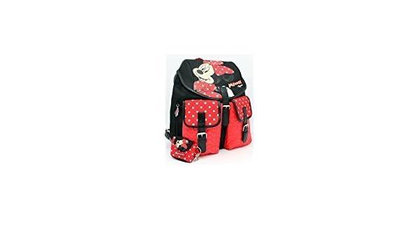 Zaino City Nero//Rosso Mickey /& Minnie Fashion