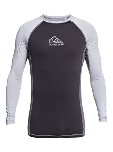 Quiksilver Backwash Surf Sr Camiseta de Manga Larga, Hombre, Gris Sleet Heather, XL