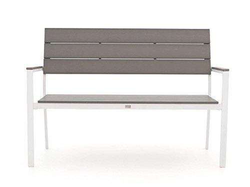 Bellagio Bravo Gartenbank 2 Sitzer 128 cm Weiß - 3