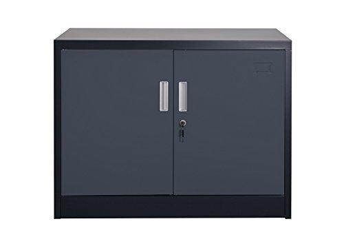 Aktenschrank Saratow dunkelgrau Büroschrank Werkzeugschrank Lager Schrank Industriebedarf und Lagerbedarf von Jet-Line