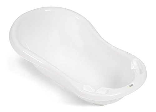 Mamas & Papas Oval Baby/Infant Bath, Wide and Spacious with a quick drainage plug - White