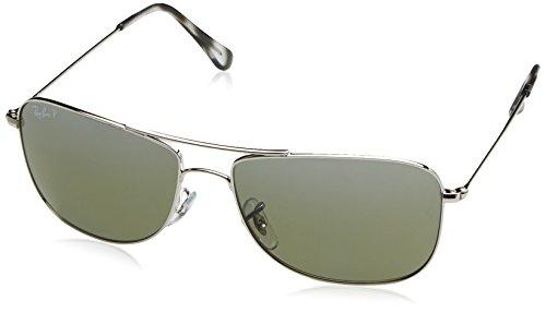 Ray-Ban Unisex-Erwachsene Sonnenbrille Rb 3543 Shiny Silver/Greymirrorsilverpolar, 59