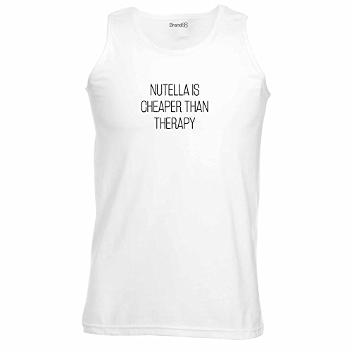Brand88 - Nutella Is Cheaper Than Therapy, Unisex Athletic Weste Weiß