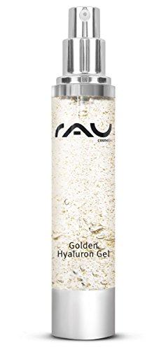 RAU Golden Gel 50ml–Crema Viso luxurieuse con del 14ct d' oro. Cura Viso Idratante e emolliente, a base di L' acido ialuronico, del panthénol e di jujube. Il Apice del lusso per tua pelle.