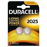 """DURACELL Lot de 2 piles bouton lithium """"Electronics"""", 2025 (CR2025)"""