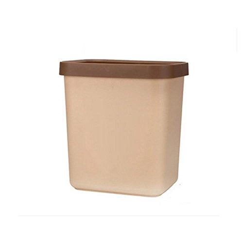 GMM® TRASH Dosen Creative Rechteck Trash Dosen Haushalt Büro Badezimmer Wohnzimmer Trash Dosen, plastik, braun, S (13 Gallone Küche Mülleimer)