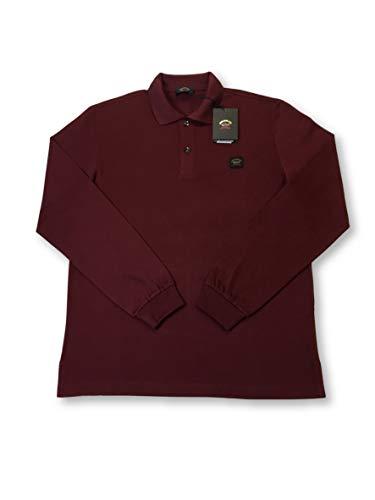 Preisvergleich Produktbild Paul & Shark Yachting Long Sleeve Polo in Dark red Size XXXL Cotton