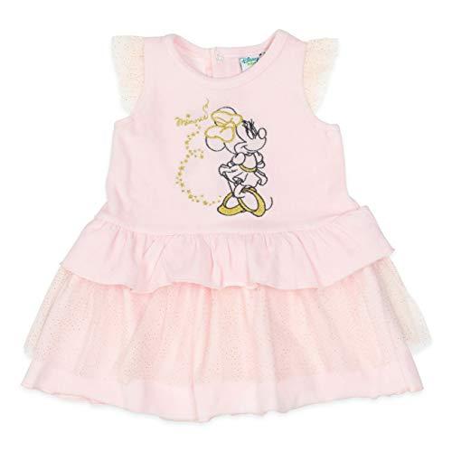 Disney Baby Kleid Mädchen rosa   Motiv: Minnie Mouse   Baby Kleid mit goldenen Akzenten für Neugeborene & Kleinkinder   Größe: 18-24 Monate (92) (Minnie Mouse Kleinkind Kleid)