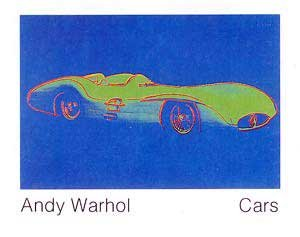 """Kunstdruck / Poster: Andy Warhol """"Cars, Formula - I - Car W 196 R, Bj. 1954"""" - hochwertiger Druck, Bild, Kunstposter, 140x109 cm"""