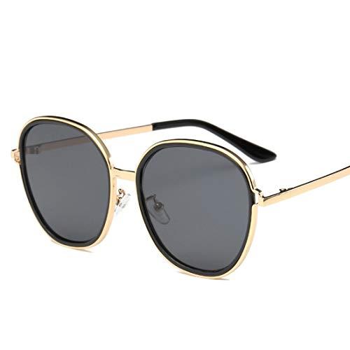 Lightpurple Übergroße runde Sonnenbrille für Männer Damen Classic Metal Frame Round Circle Mirrored Sunglasses (Color : C)